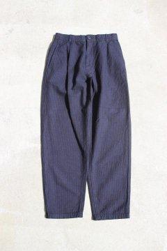 BLUE BLUE JAPAN/インディゴステッチサシコ ワンタック バギーパンツ