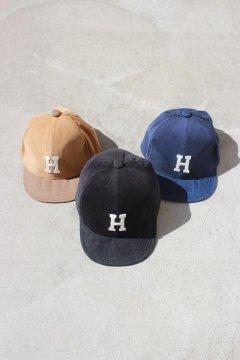 H.R.REMAKE/キッズ CORDUROY MIX PT Hワッペン BB CAP