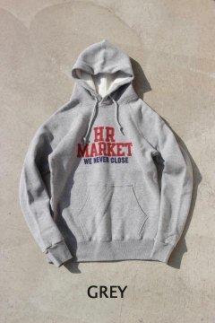 ハリウッドランチマーケット/HR MARKET カレッジ スウェットプルパーカ WHT,GRY