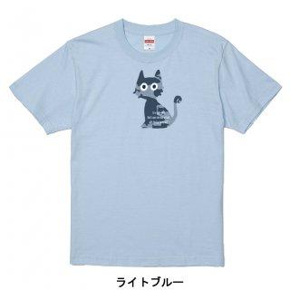 かぎしっぽネコ(迷彩BIG、ミニ2匹、ミニ並び)-半袖Tシャツ  大人から子どもまでサイズとカラーを選んでオーダー♪