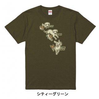 わんこラブ&ジャック(3ポーズ)-半袖Tシャツ  大人から子どもまでサイズとカラーを選んでオーダー♪