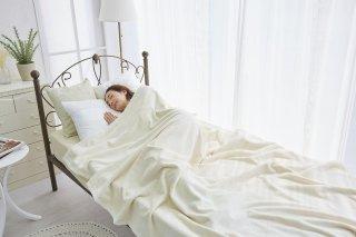 三和シール シール織 綿毛布 アイボリー  ダブル 180cm×210cm  国産 【メーカー直販価格】