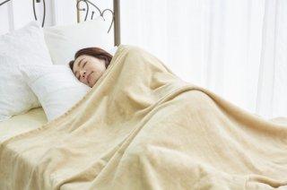 シール織 綿毛布 ロング ベージュ シングル  140�×210� 国産 【メーカー直販価格】