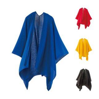 tate-L 羽織るポンチョ / 薄手で軽いウール100%