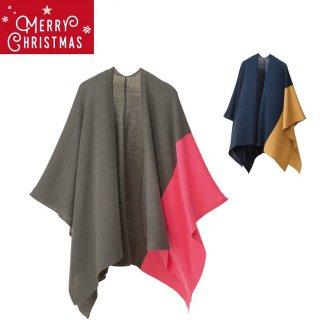 【10%OFFクリスマスギフトセット】ラッピング付き! tate-L 羽織るポンチョ ・ ニットマスクセット