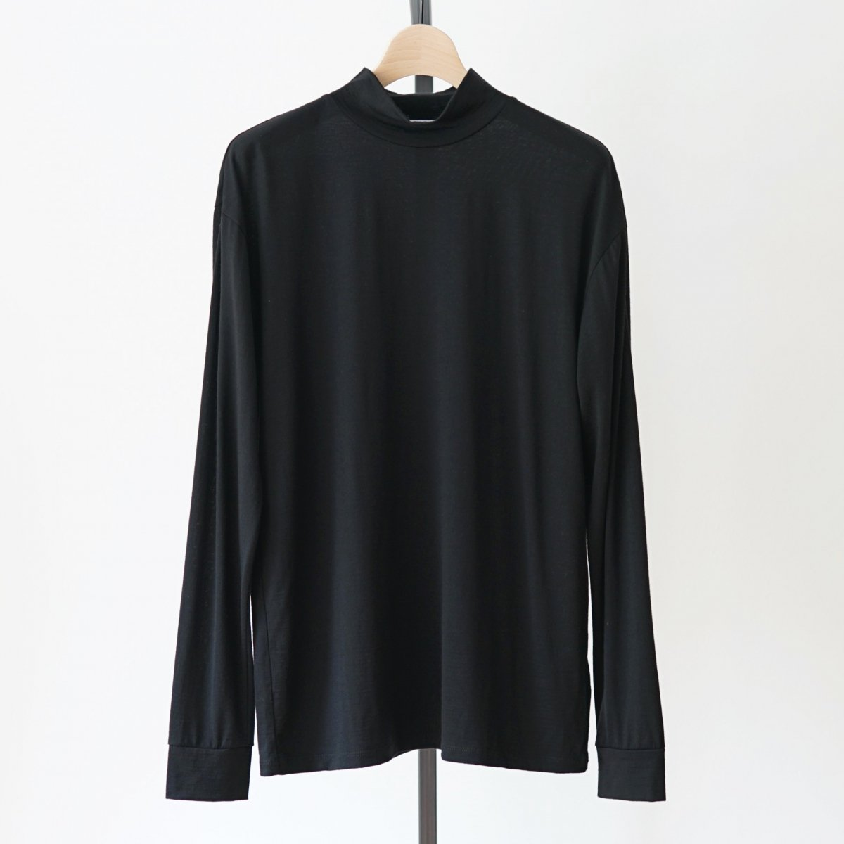 【UNDECORATED アンデコレイテッド】SUPER120 WOOL L/S T-SHIRTS - BLACK