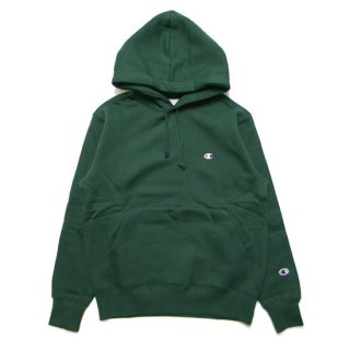 CHAMPION チャンピオン BASIC PULLOVER HOOD C3-Q105/DARK GREEN