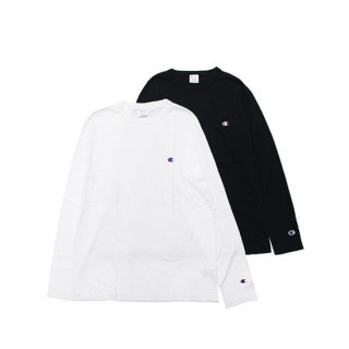 CHAMPION チャンピオン BASIC L/S TEE C3-P401/BLACK,WHITE