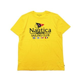 NAUTICA ノーティカ FLAG SAILING CLUB S/S TEE V01113/GOLD
