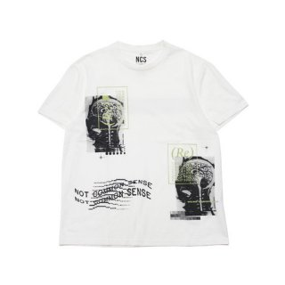 NOT COMMON SENSE ノットコモンセンス BRAIN S/S TEE 20213016/WHITE