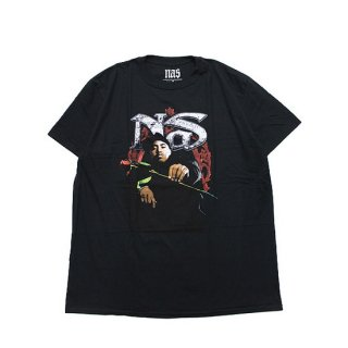 OFFICIAL LICENSE ARTIST オフィシャルライセンスアーティスト NAS RED ROSE S/S TEE/BLACK