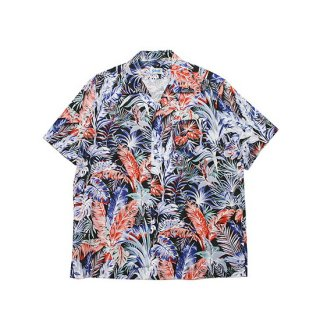 SCHOTT ショット BOTANICAL HAWAIIAN S/S SHIRT 3105037/BLACK