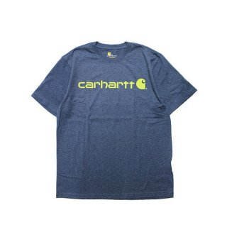 CARHARTT カーハート SIGNATURE LOGO S/S TEE/BLUE HEATHER