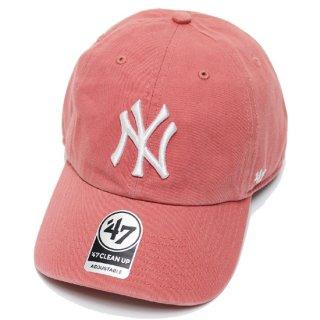 47BRAND フォーティーセブン YANKEES '47 CLEAN UP CAP/ISLAND RED