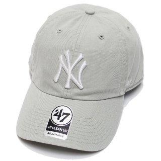 47BRAND フォーティーセブン YANKEES '47 CLEAN UP CAP/GREY