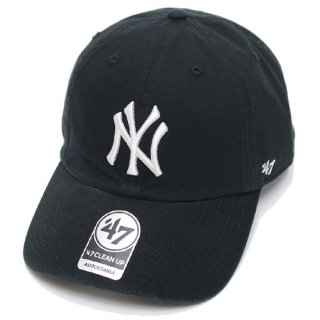 47BRAND フォーティーセブン YANKEES '47 CLEAN UP CAP/BLACK