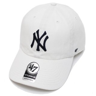 47BRAND フォーティーセブン YANKEES '47 CLEAN UP CAP/WHITE