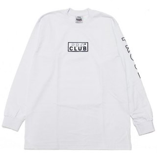 PRO CLUB プロクラブ HEAVYWEIGHT EMBROIDERED BOX LOGO L/S TEE 114EMB/WHITE