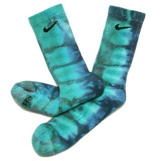 SOCK SAMMY JO ソックサミージョー ATMOSPHERIC CREW SOCKS/TURQUOISExNAVY