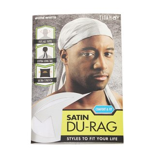 SATIN DU-RAG/WHITE
