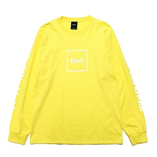 HUF ハフ ESSENTIALS DOMESTIC L/S TEE TS00146/YELLOW