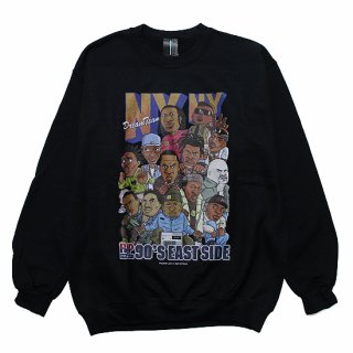 RAP ATTACK ラップアタック NY NY CREWNECK SWEAT RAWT20-CS001/BLACK