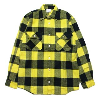 ROTHCO ロスコ EXTRA HEAVYWEIGHT FLANNEL L/S SHIRT 4739/YELLOW/BLACK