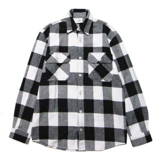 ROTHCO ロスコ EXTRA HEAVYWEIGHT FLANNEL L/S SHIRT 4739/WHITE/BLACK