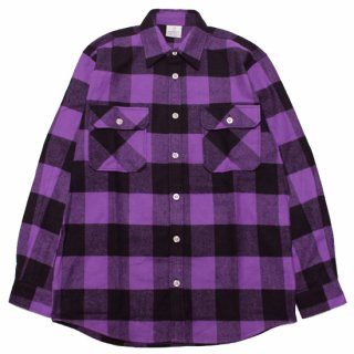 ROTHCO ロスコ EXTRA HEAVYWEIGHT FLANNEL L/S SHIRT 4739/PURPLE/BLACK