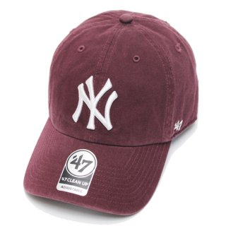 47BRAND フォーティーセブン YANKEES '47 CLEAN UP CAP/DARK MAROON
