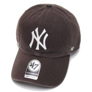 47BRAND フォーティーセブン YANKEES '47 CLEAN UP CAP/BROWN