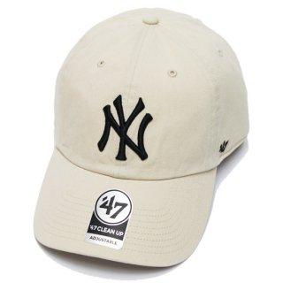 47BRAND フォーティーセブン YANKEES '47 CLEAN UP CAP/IVORY