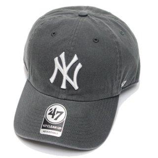 47BRAND フォーティーセブン YANKEES '47 CLEAN UP CAP/CHARCOAL