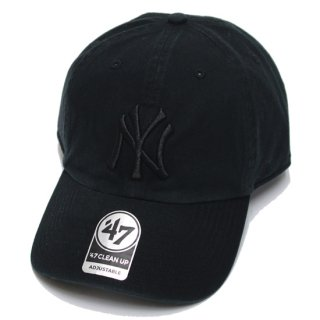 47BRAND フォーティーセブン YANKEES '47 CLEAN UP CAP/BLACKxBLACK