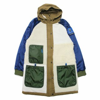 SCOTCH&SODA スコッチ&ソーダ REVERSIBLE COTTON-TEDDY PARKA JACKET 158645/FAWN