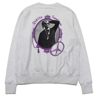 FOR THE HOMIES フォーザホーミーズ QUALITY SUPERIOR CHAMPION CREWNECK SWEAT/SILVER GREY