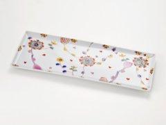 長角皿 花のロンド