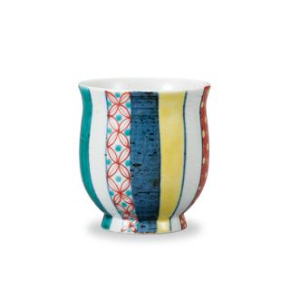 湯呑 色絵小紋  和陶房