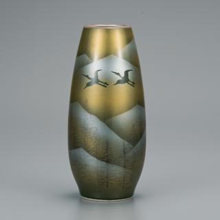 8号花瓶 鶴連山