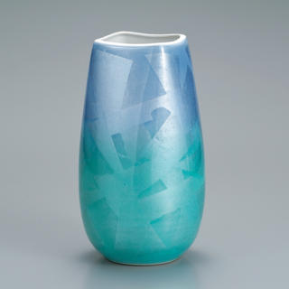 9号花瓶  銀彩