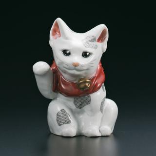 4号招き猫 黒絵細描  林美佳里