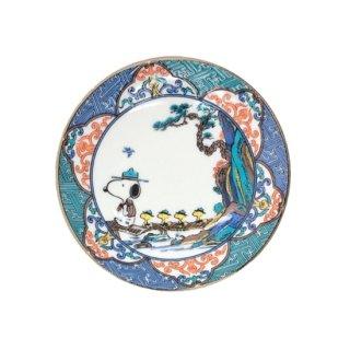九谷焼スヌーピー豆皿 山水