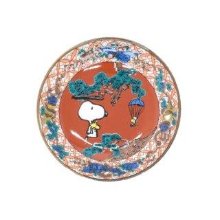 九谷焼スヌーピー豆皿 赤絵