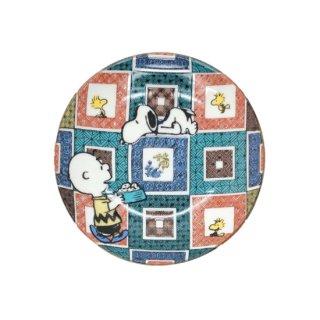 九谷焼スヌーピー豆皿 石畳