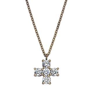 K18 ゴールド クロス ダイヤモンドネックレス Croix(クロワ)  0.27ctの商品画像