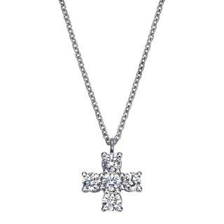 Pt プラチナ クロス ダイヤモンドネックレス Croix(クロワ)  0.27ctの商品画像