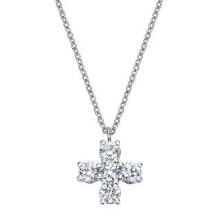 Pt プラチナ クロス ダイヤモンドネックレス Croix(クロワ)  0.41ctの商品画像