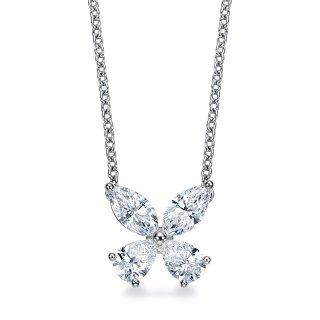 Pt プラチナ ダイヤモンド ネックレス Papillon (パピヨン) 1.0ct F VSの商品画像