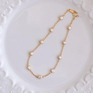 K18 10石ダイヤモンドステーションブレスレット Bezel (ベゼル) 1.0ctの商品画像