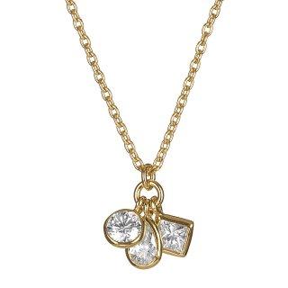 K18 スリーストーン ダイヤモンドネックレス Trois lumiere (トロワ・ルミエール)0.3ctの商品画像